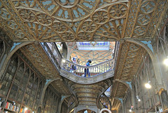 bookshop  Lello & Irmao (MiChaH) Tags: holiday vakantie citytrip porto portugal 2016 september city stad bookshop boekenwinkel lello lelloirmao old oud museum ceiling stairs plafond trappen houtsnijwerk