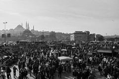 DSC_0521 (zeynepcos) Tags: eminonu istanbul turkey karakoy galata bridge crowd crowded blackandwhite