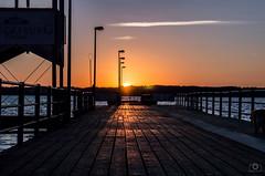 Steg, Glcksburg (jannik.weber) Tags: germany sunset sun summer light steg glcksburg nikon dslr sky sunlight wasser sea 50mm