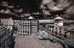 Plaza de San Francisco de Ass (Steve Bahcall) Tags: tokina1116 ir bw infrared plazadesanfrancisco habana travel blackwhite convertedinfrared monochrome