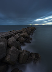 Blue Hour (Peter Henry Photography) Tags: breakwater sea blue longexposure water coast workington cumbria