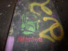Boba Fett stencil, Leake Street (duncan) Tags: graffiti leakestreet bobafett stencil