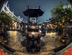- Taipei Baoan Temple (urbaguilera) Tags:            dalongdong baoan temple taipei city fish eye lens taiwan traditional chinese architecture design datong district nikon 16mm f28 rainy after nocturne religion worship wide urbaguilera danielaguilera building patio long exposure danielcity  incense