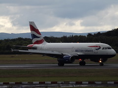G-EUPP Airbus A319 British Airways (Aircaft @ Gloucestershire Airport By James) Tags: manchester airport geupp airbus a319 british airways egcc james lloyds