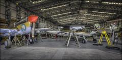 Duxford 13 (Darwinsgift) Tags: duxford imperial war aviation museum hangar restoration service nikkor 20mm f18 g nikon d810 hdr photomatix