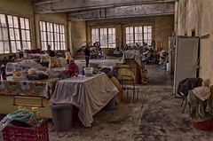Albanian Indoor Market (Alfred Grupstra Photography (2-11 back)) Tags: grunge indoor market people pogradec al albania