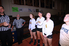 IMG_3468 (SJH Foto) Tags: girls volleyball high school lancaster mennonite elco eastern lebanon team tween teen east teenager varsity tamron 1024mm f3545 superwide lens pregame ceremonies ref referee captains coin toss