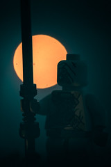 a tusken in the night (jooka5000) Tags: lego tuskenraider toy starwars portrait sun moon night tusken allincamera mysterious toyphotography nostalgic