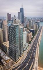 Hancock Tower - Lake Shore (www.abhijitphotos.com) Tags: chicago chicagodowntown chicagobuildings us lakeshore hancocktower johnhancock lakepointtower architecture buildings tallbuildings skyscraper city outdoor skyline building infrastructure
