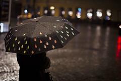 (Olivija_Owl) Tags: 2016 rain umbrella lithuania vilnius travel night autumn people 50mm canon