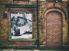 in a window (phil openshaw) Tags: graffiti urban decay original photographers derelict