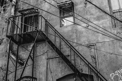 Luling Texas (J&E Adventures) Tags: rebelt3 canonphotography staircase exploration urbandecay canoneosrebel explore door stairs mainstreet urban monochrome digital middleamerica canon blackandwhite blackandwhitephotography bw