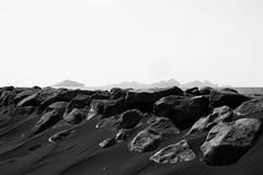 KLIS5399_S (Konrad Lembcke) Tags: landeyjahöfn shore iceland landscape sea ocean minimal simple black white monochrome view vestmannaeyjar islands suðurland region heimaey surtsey