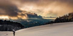 Lever de soleil sur la valle (glassonlaurent) Tags: paysage neige le praz de lys taninges haute savoie 74 france