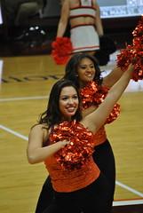 HIGH TECH DANCERS (SneakinDeacon) Tags: acc vt vatech hokies cassellcoliseum cheerleaders bigsouth basketball hightechs panthers highpoint