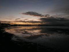 dusk 321/366 (dawn.v) Tags: dusk sunset poole sandbanks dorset uk england cloudy lumixlx100 sea coast reflections