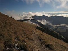 View (aniko e) Tags: mountains alps alpen clouds view snow hiking outdoors hinteressonnwendjoch austri austria sterreich slope steep autumn mangfallgebirge bayerischevoralpen bavarianprealps tirol tyrol