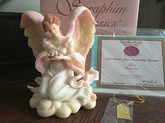 Seraphim Classics by Roman (Pointe Shoes Punk Rock And Purl Pix) Tags: seraphim angel roman resinstone figurine collectible spiritual baby infant joy retired inspirational motherslove devotion mib gaylordho