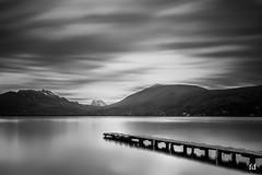 le ponton qui voulait rencontrer la dame (flo73400) Tags: nb bw le longexposure poselongue landscape lacdannecy lake france annecy paysage