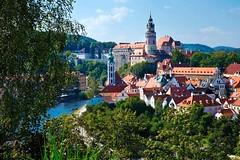 Czesky Krumlov (Piotr Tylski) Tags: luminar macphun fujifilm xe1 vacations summer ancient city landscape postcard