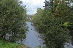 By the Vltava River (smilla4) Tags: sky clouds river vltavariver moldau vyssibrod czechrepublic