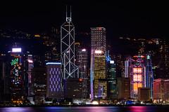 Victoria Harbor (Darren Poun) Tags: victoriaharbor hongkong cityscape nightphotography d800 d800e nikkor70200mm christmas