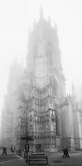 Fade Away! (davepsemmens) Tags: fog church york minster bw