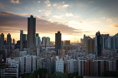 Sunset in SSP (lccf1103) Tags: hongkong longexposure landscape canon1018mm haidand1000 canonkissx4 newbie