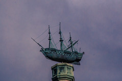 Ship A Hoy (Tony Shertila) Tags: 20161107132532 england gbr lode unitedkingdom geo:lat=5223737201 geo:lon=023886247 geotagged europe britain cambridshire angleseyabbey mansion house weather day clouds cloudy sky outdoor weathervane ship tallship sailingboat
