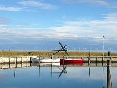 White and red (Susanne Leschke Photography) Tags: boat harbour denmark summer love sea sky boats boote fishing fischerboot
