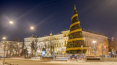 Ready for Christmas (pilot3ddd) Tags: stpetersburg nicholaspalace laboursquare christmastree citylights winter olympuspenepl7 panasoniclumixg20mmf17