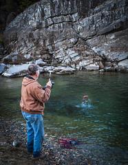 Gotcha! (oliemackeral) Tags: fishing fishermen nature kokanee salmon kootenai river montana rocks water fish rod reel inland pacific northwest usa