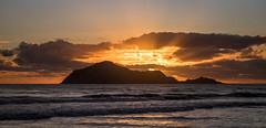 Bare sun (lizcaldwell72) Tags: hawkesbay sunrise waimarama water sky beach newzealand bareisland light