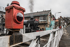 Red light district (Blaydon52C) Tags: stanier 5mt 44806 lms nymr grosmont moorlander northyorkshiremoorsrailway north yorkshire moors railway rail railways trains train transport locomotive lol locomotives loco locomotion steam engine signals levelcrossing
