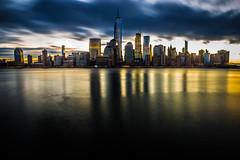 Manhattan at Dawn Test Shot 001 (gomarky) Tags: canonef2470mmf28lusm canoneos5dmarkiii manhattan newyork newyorkcity colgatepier jerseycity newjersey longexposure lightroom adobelightroom