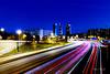Hora azul en el skyline de Madrid (Víctor Flambó) Tags: nocturna madrid skyline