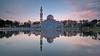 Tengku Tengah Zaharah Mosque (Hafiz.Soyuz.Photography™) Tags: floating mosque terengganu malaysia lagoon lake kualaibai dome tower water clouds morning sunrise landscapes architecture