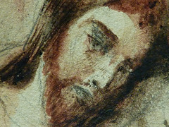 DELACROIX Eugène,1826 - Le Christ au Jardin des Oliviers, Eglise St-Paul-St-Louis, Paris, Etude (drawing, dessin, disegno-Louvre RF23325) - Detail 48 (L'art au présent) Tags: drawing dessins dessin disegno personnage figure figures people personnes art painter peintre details détail détails detalles 19th 19e dessins19e 19thcenturydrawing 19thcentury detailsofdrawing detailsofdrawingdessins croquis étude study sketch sketches tableaux louvre museum eugènedelacroix eugène delacroix france lechristaujardindesoliviers christinthegardenofgethsemane gardenofgethsemane christ jardindesoliviers aquarelle watercour watercolor man men homme romantic romantique romantisme romanticism romance armes weapons soldats soldiers rocher rock nuit night ombre shaddow paris