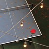 night play (jimATL (weltreisender2000)) Tags: night fluorescent light bulb table tennis red paddle leaves winter lines atlanta