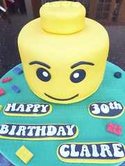 Lego Head Cake (Victorious_Sponge) Tags: lego man head birthday cake yellow 30th 40th