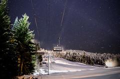 Blackcomb 1 (www.EllwoodsImages.co.uk) Tags: night photography pentax k5 ellwoods images gondola mountains snow stars canada whistler blackomb trees