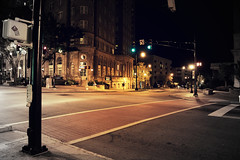 On the corner (mikedunnit) Tags: street atlanta urban stilllife building art night georgia empty streetphotography