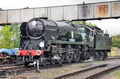 Sir Keith Park at Kidderminster (davids pix) Tags: pacific railway steam southern locomotive preserved severnvalley 2014 kidderminster bulleid 34053 sirkeithpark autumngala 20092014
