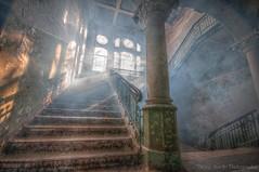 Stairs to heaven... (Tobiasstift) Tags: old abandoned germany nikon alt sigma hdr verlassen verfallen d90 lostplace beelitz verkommen nikond90 beelitzheilstetten