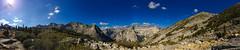 At the edge of Dusy Basin, looking back down toward Le Conte Canyon (100 Peaks) Tags: camping backpacking mountwhitney sierranevada lonepine longlake southlake bishoppass johnmuirtrail dusybasin lecontecanyon bishoplake littlepetemeadow 100peaks socalhiker muirtaco