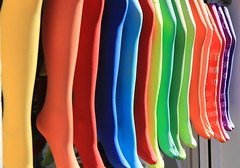 RGB knee socks (argamel2) Tags: colour sock colorful socken bunt