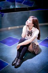 Vika (Jimmy Chuah) Tags: school portrait girl beauty lady model singapore uniform taiwanese vika 2014 marinabarrage