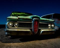 Ruby Begonia's Ride (dejavue.us) Tags: california longexposure nightphotography lightpainting ford abandoned nikon desert edsel fullmoon junkyard nikkor mojavedesert d800 vle
