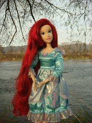 Ariel (Medithanera) Tags: autumn red water river hair landscape big eyes inch doll singing little poland disney redhead 17 mermaid haired 2011