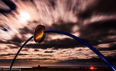 Blood Moon Cloud Movement (d_willing) Tags: new moon beach statue night clouds canon bay eclipse blood movement october wind 8 zealand bonfire coastline napier 2014 hawkes